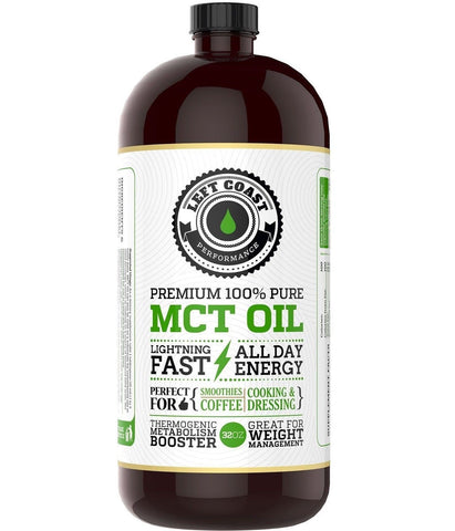 Left Coast Performance Coconut MCT Oil 32 oz - Chickadee Solutions - 1