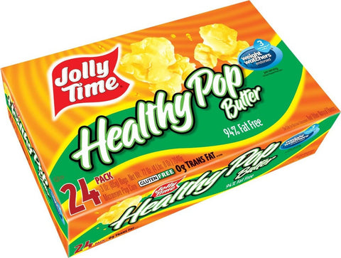 Jolly Time Healthy Pop Butter 94% Fat Free Weight Watchers Microwave  Popcorn