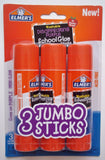 Elmer's Jumbo Glue Stick (3 Pack) 1.4 oz (40g) each - Washable Disappearing P... - Chickadee Solutions