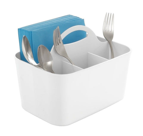 mDesign Silverware Flatware Caddy Organizer for Kitchen Countertop Storage Di... - Chickadee Solutions - 1