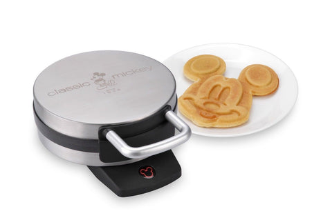 Disney DCM-1 Classic Mickey Waffle Maker Brushed Stainless Steel Mickey Mouse - Chickadee Solutions - 1