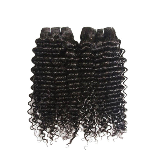 #1b Curly Wave 100% Virgin Brazilian Bundle Hair Remy Human Hair Weft Weave E... - Chickadee Solutions - 1