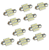 10pcs 31mm 12SMD 3528 LED White Festoon Dome Interior Light Map Door Lamp Car... - Chickadee Solutions - 1