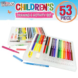 US Art Supply 53 Piece Children's Art and Activity Drawing and Marker Pen Set... - Chickadee Solutions - 1