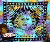 Psychedelic Celestial Indian Sun Hippie Hippy Tapestry Wall Hanging Throw Tie... - Chickadee Solutions