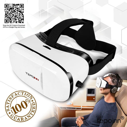 (New Version) 3D VR Glasses Tepoinn 3D Virtual Reality Headset VR Box 4.0-6.0... - Chickadee Solutions - 1