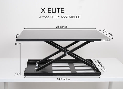 X Elite Pro Height Adjustable Sit Stand Desk Converts