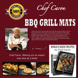 Chef Caron BBQ Grill Mat Set of 2 Nonstick Ultra-slick Extra Thick - Designed... - Chickadee Solutions - 1