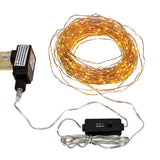 100 Ft Warm White Plug in Starry Copper Wire String Lights with Timer - 300 L... - Chickadee Solutions - 1