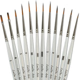 Acrylic Paint Brushes - 12 Brush Set - Fine Detail Painting of Art Miniatures... - Chickadee Solutions - 1