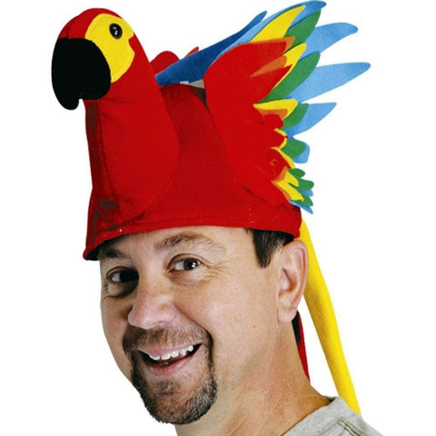 Plush Parrot Hat Party Accessory (1 count) (1/Pkg) - Chickadee Solutions - 1