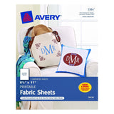 Avery Printable Fabric for Inkjet Printers 8.5 x 11 Inches Pack of 5 (03384) - Chickadee Solutions - 1