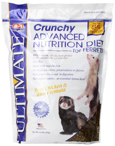 8 in 1 Ultimate Ferret Crunchy Diet 4.4lbs P-H415 026851004158 - Chickadee Solutions - 1