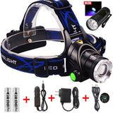 9 LED Flashlight+3 Modes Zoomable 1800 Lm Led Headlamp Comfortable Hands-free... - Chickadee Solutions - 1