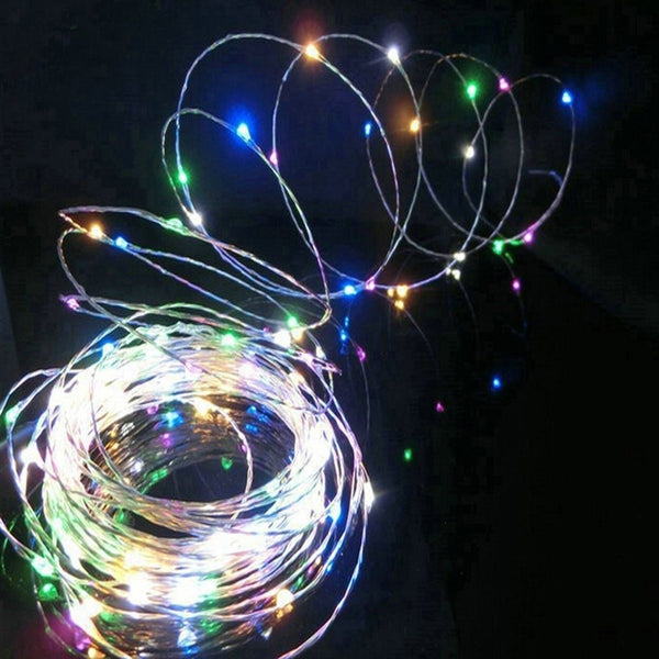 Xemqener Usb Led String Lights Micro 100 Led Multi-Color On 33 Ft Bendable Si... Chickadee ...