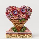 Jim Shore Mini Flower Heart Bouquet Figurine - Chickadee Solutions