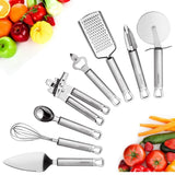 8 Piece High Grade Stainless Steel Kitchen Gadgets Tools Set Unique Thick Str... - Chickadee Solutions - 1