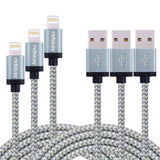 Airsspu 3Pack 3FT 6FT 10FT Nylon Braided Lightning Cable USB Charging Cord wi... - Chickadee Solutions - 1