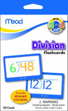 Mead Flashcards Division Grades 2-4 3.62 x 5.25 Inches 55 Cards (63148) - Chickadee Solutions - 1