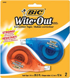BIC Wite-Out Brand EZ Correct Correction Tape 2-Count - Chickadee Solutions - 1