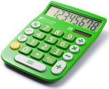Avalon 8 Digit Dual Powered Desktop Calculator LCD Display Green Avalon - Chickadee Solutions - 1