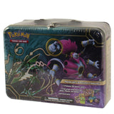 Pokemon TCG Collector Chest Lunchbox Tin 2015 Sealed Featuring Rayquaza & Hoo... - Chickadee Solutions
