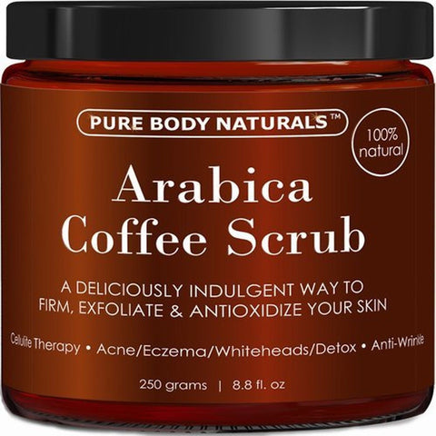 100% Natural Arabica Coffee Scrub with Organic Coffee Coconut and Shea Butter... - Chickadee Solutions - 1
