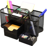 DecoBros Desk Supplies Organizer Caddy Black - Chickadee Solutions - 1