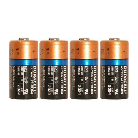 4 Count Duracell Ultra Lithium 3V CR17345 Leak Resistant Long Lasting Batteries - Chickadee Solutions
