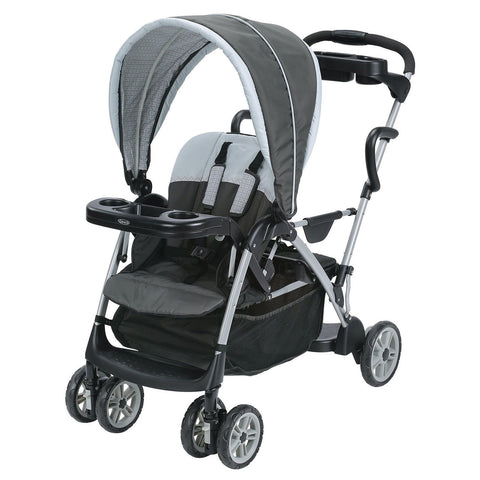 Graco Roomfor2 Click Connect Stand and Ride Stroller Gotham 1 Graco 1946468 - Chickadee Solutions - 1