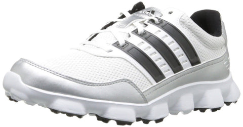 adidas Men's Crossflex Sport Golf Shoe White / Black / Metallic Silver adidas - Chickadee Solutions - 1