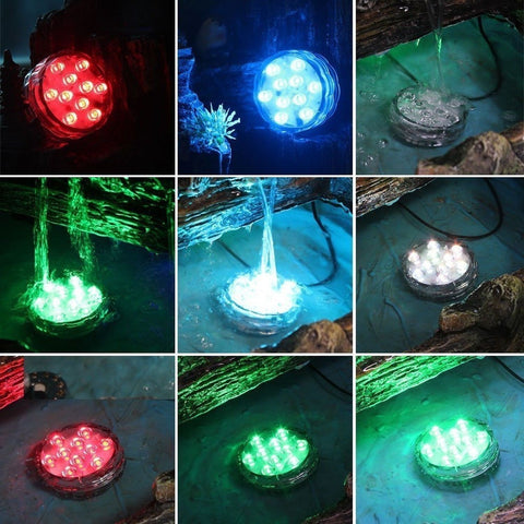 Fund Waterproof 10-led 24 RGB Submersible LED Light Multi Color Waterproof We... - Chickadee Solutions - 1