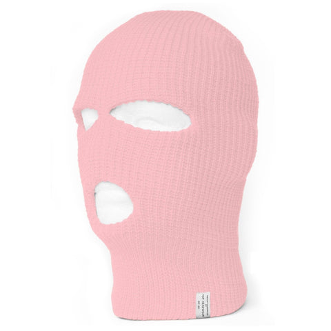 TopHeadwear Face Ski Mask 3 Hole (More Colors) Pink - Chickadee Solutions