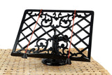 A29 Solid Cast Iron Lattice design Cookbook Stand - Chickadee Solutions - 1