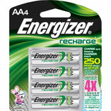 Energizer Rechargeable Batteries Size Aa Nimh Blister Pack 4 - Chickadee Solutions