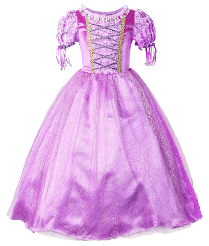 JerrisApparel New Princess Rapunzel Party Dress Costume Purple 4T - Chickadee Solutions - 1