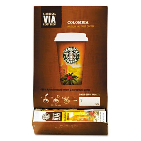 Starbucks SBK11008131 Colombian VIA Ready Instant Single Serving Brew (Pack o... - Chickadee Solutions