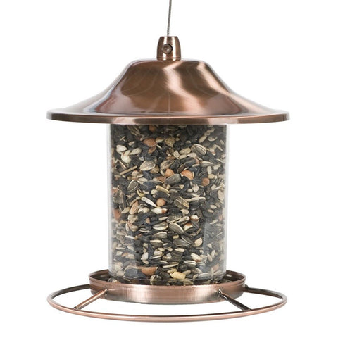 Perky-Pet Copper Panorama Bird Feeder 312C 8L x 8W ins. Perky-Pet - Chickadee Solutions - 1