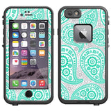 Skin Decal for LifeProof Apple iPhone 6 Case - Paisley Green and Flowers on W... - Chickadee Solutions - 1