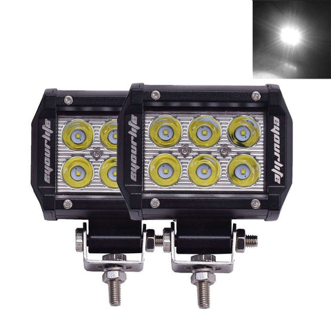 Eyourlife 18w Led Work Light Cree Led 4x4 Off Road Light Bar Pair 4 inch SUV ... - Chickadee Solutions - 1