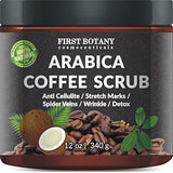 100% Natural Arabica Coffee Scrub 12 oz. with Organic Coffee Coconut and Shea... - Chickadee Solutions - 1