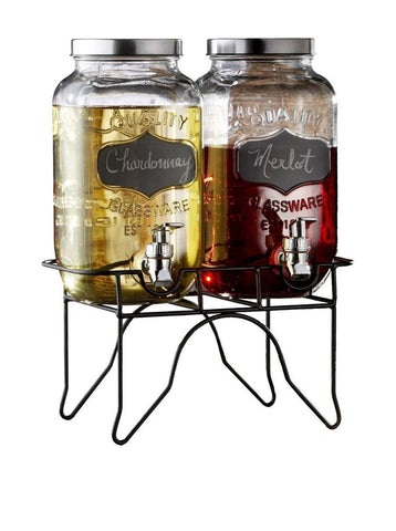 Style Setter Blackboard Beverage Dispenser Set with Stand - Chickadee Solutions