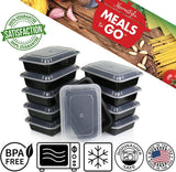 Meals-to-Go Lunch Box Containers with Lids - BPA Free Plastic Stackable Reus... - Chickadee Solutions - 1