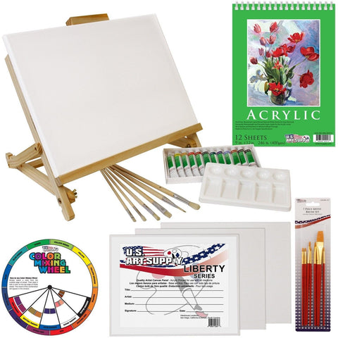 Us art supply 33 piece custom artist acrylic painting set for Acrylic mural paint supplies