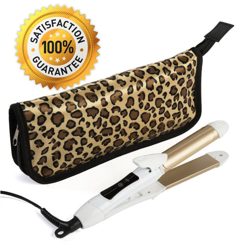 2-in-1 Mini Hair Straightener Flat Iron/Curling Iron Styler w/Nano Titanium T... - Chickadee Solutions - 1