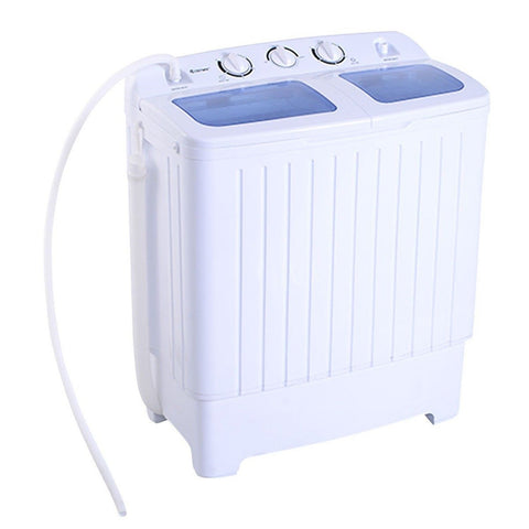 Giantex Portable Mini Compact Twin Tub 11lb Washing Machine Washer Spin Dryer - Chickadee Solutions - 1