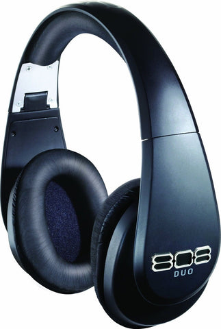 808 DUO Wireless and Wired Precision-Tuned Over-Ear Headphones - Matte Black - Chickadee Solutions - 1