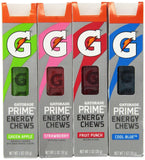 Gatorade G Series 01 Prime Energy Chews Mixed 4 Pack (4 Sleeves) 4 Sleeves - Chickadee Solutions - 1