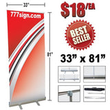 "777Sign 33"" Double Foot Retractable Banner Stand 33"" x 81"" - Chickadee Solutions - 1"