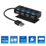 TecBillion 4 Port USB 2.0 Hub with Individual Power Switches and LEDs Include... - Chickadee Solutions - 1